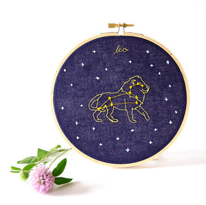 Leo Zodiac Embroidery  (July 23 - Aug. 22)