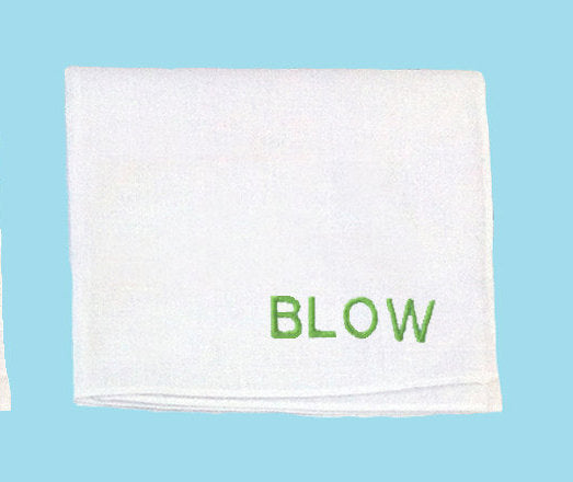 Blow Embroidered Handkerchief