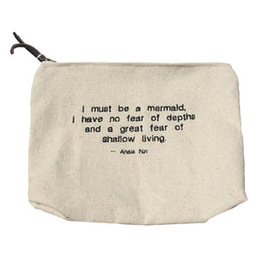 Mermaid embroidered clutch. pencil case
