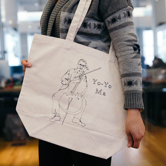 Yo-Yo Ma Embroidered Canvas Tote