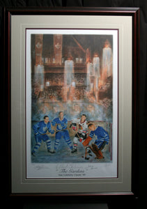 NHL Old Timers Autographed Hockey Art (Set of 4 Framed Limited Prints)