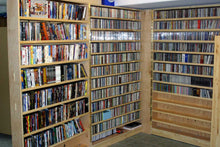 Space Saving CD and DVD Tri-Folding Bookcase Plans (Picture Plans)