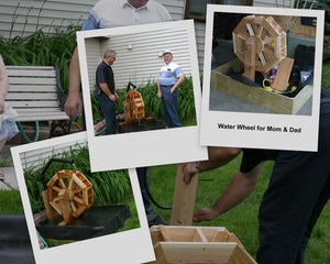 Wooden Water Wheel Plans for your Garden Pond or Flower Garden (Picture Plans)