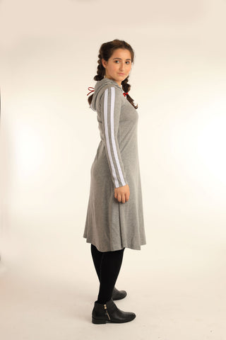 Hooded Striping Dress