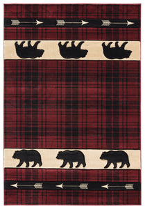CABIN 6 BEAR TRAIL ARROWS RED PLAID
