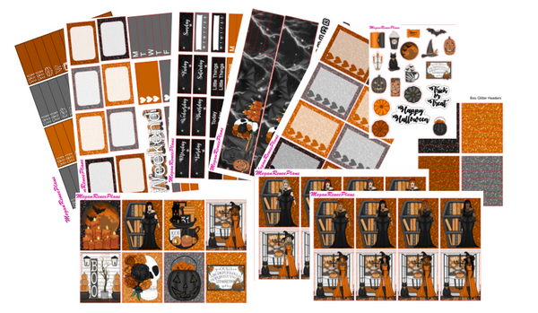 Boo! Halloween Themed Weekly Planner Sticker Kit