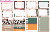 Camping Weekly Kit for the Erin Condren Life Planner Vertical