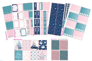 Pink Christmas Weekly Kit for the Classic Happy Planner