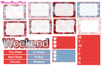 Independence Day Weekly Kit for the Classic Happy Planner - MeganReneePlans