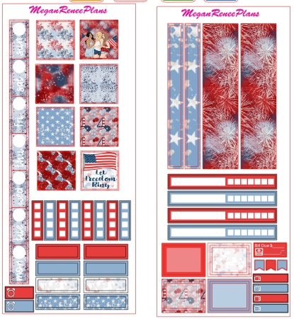 Independence Day HOBONICHI WEEKS 2 page Kit - MeganReneePlans