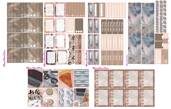 Hello Weekend Weekly Kit for the Erin Condren Life Planner Vertical