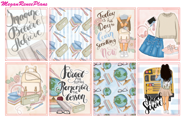 Back to School Weekly Kit for the Erin Condren Life Planner Vertical