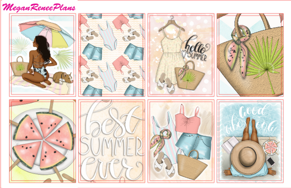 Summer Days Weekly Kit for the Erin Condren Life Planner Vertical