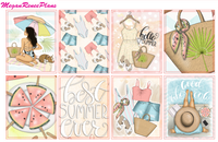 Summer Days Weekly Kit for the Erin Condren Life Planner Vertical - MeganReneePlans