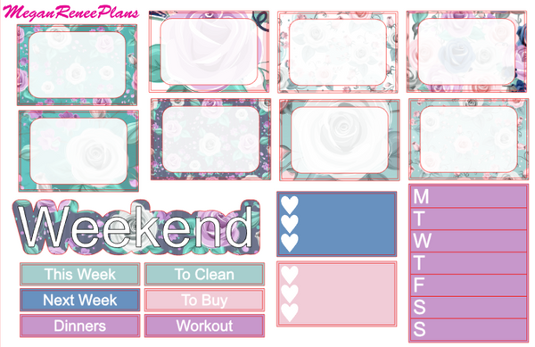 Spring Floral Weekly Kit for the Classic Happy Planner