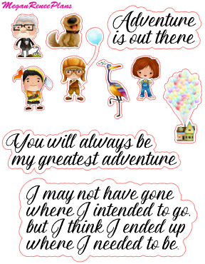 Up Inspired Mini Deco Quote Sheet - MeganReneePlans
