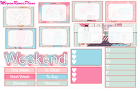 Weekend Vibes Themed Weekly Kit for the Erin Condren Life Planner