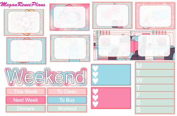 Weekend Vibes Music Themed Weekly Kit for the Erin Condren Life Planner