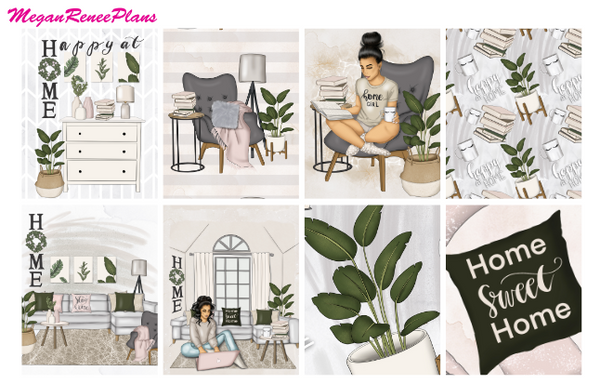 Home Sweet Home - FULL BOXES ONLY (Light or Dark Skin) - MeganReneePlans