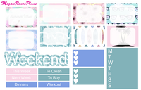 Summer Surfing Weekly Planner Sticker Kit - Vertical Tall - MeganReneePlans