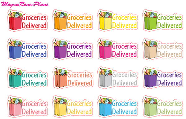 Groceries Delivered functional matte planner stickers - MeganReneePlans