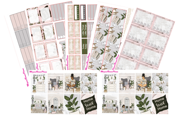 Home Sweet Home Weekly Planner Sticker Kit Vertical Standard Size - MeganReneePlans