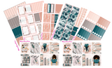 Shh I'm Reading Weekly Planner Sticker Kit Vertical Tall Size - MeganReneePlans