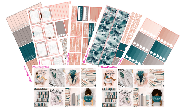 Shh I'm Reading Weekly Planner Sticker Kit Vertical Standard Size - MeganReneePlans