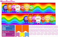 Rainbow Brite Themed Weekly Planner Sticker Kit