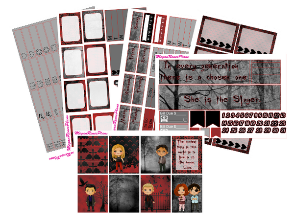 Vampire Slayer Weekly Planner Sticker Kit