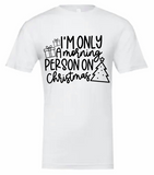 Christmas Morning Person Tshirt with Black Lettering (Bella Canvas)