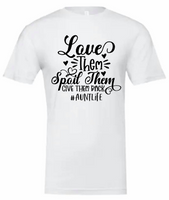 Aunt Life Tshirt with Black Lettering (Bella Canvas)