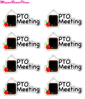 PTO Meeting Mini Sheet - MeganReneePlans