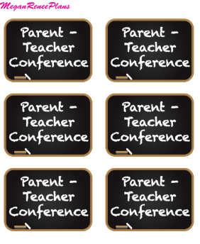 Parent Teacher Conference Mini Sheet - MeganReneePlans