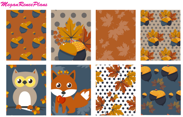 Fall Fox Autumn Owl Weekly - FULL BOXES ONLY - MeganReneePlans