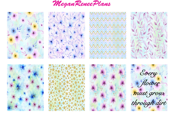 Pastel Flowers - FULL BOXES ONLY - MeganReneePlans