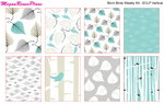 Birch Birds Weekly Kit for the Erin Condren Life Planner Vertical