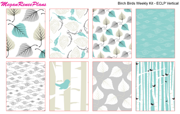 Birch Birds Weekly Kit for the Classic Happy Planner