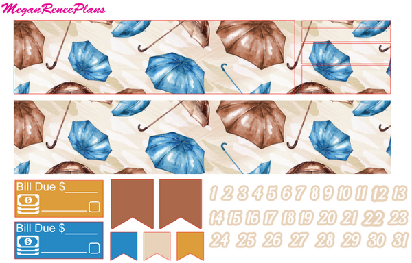 Hello Autumn Weekly Kit for the Erin Condren Life Planner Vertical