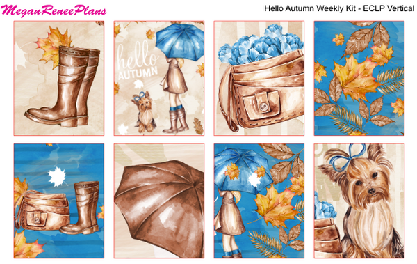 Hello Autumn Weekly Kit for the Erin Condren Life Planner Vertical - MeganReneePlans