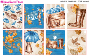 Hello Fall Weekly Kit for the Erin Condren Life Planner Vertical