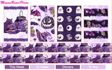 Purple Halloween Weekly Kit for the Classic Happy Planner