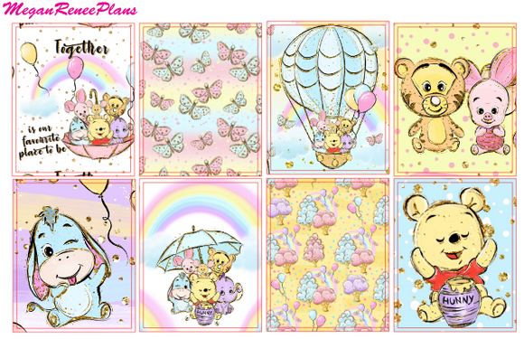 Winnie the Pooh Inspired Weekly Kit for the Erin Condren Life Planner Vertical