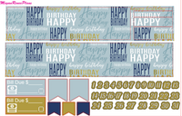 Happy Birthday Weekly Kit for the Classic Happy Planner - MeganReneePlans