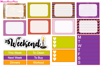Hocus Pocus themed Halloween Weekly Planner Sticker Kit for the Erin Condren Vertical Life Planner - MeganReneePlans