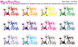 Spin Class Matte Planner Stickers - MeganReneePlans