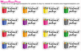 Walmart Grocery Pick Up Matte Planner Stickers