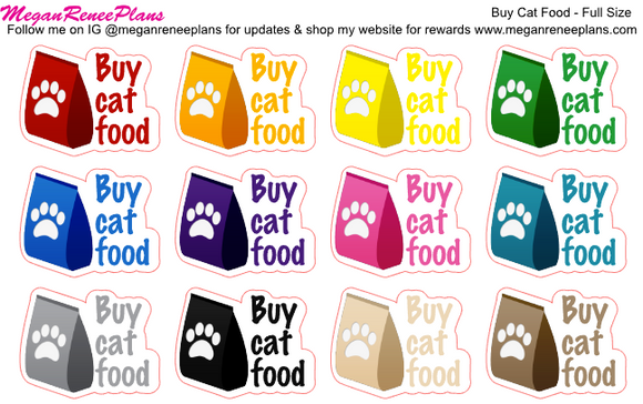 Buy Dog Food / Buy Cat Food Functional Planner Stickers