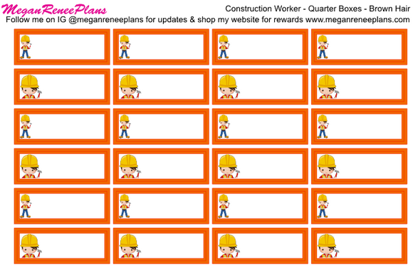 Construction Worker Appointment Labels (CUSTOM FOR DANIELLE)