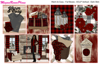Warm & Cozy Buffalo Plaid Themed Weekly Kit (multiple options) for the Erin Condren Life Planner Vertical - MeganReneePlans